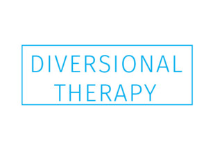 "Rubber Stamp ""Diversional Therapy"" Blue Ink"
