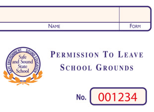Personalised Permission to Leave the School Grounds