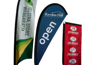 Teardrop, Bali and Rectangle Banners