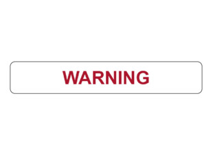 Warning Prompt Label
