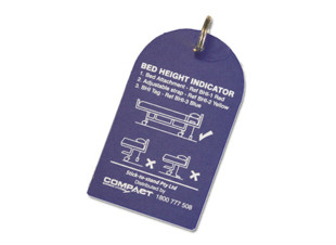 Bed Height Indicator Tag Blue