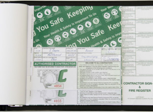 A4 Contractor Pass Books - Generic (50 Passes)