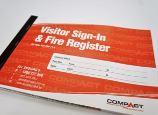 A4 Visitor Sign In Pass Book - Generic