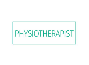 "Rubber Stamp ""Physiotherapist"" Green Ink"