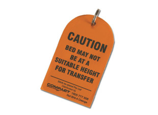 Bed Height Caution Tag Orange