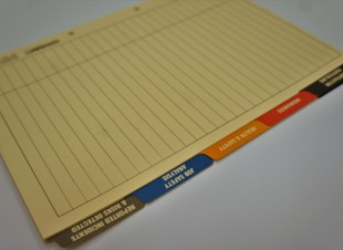 Contractor Induction Tab Dividers