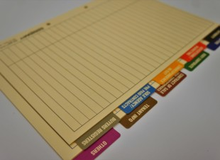 Real Estate Property Sales Tab Dividers