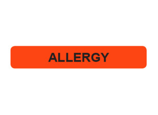 Allergy Prompt Label