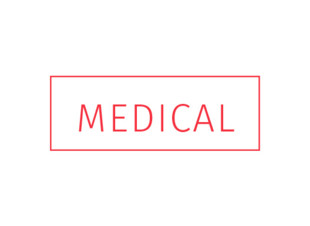 "Rubber Stamp ""Medical"" Red Ink"
