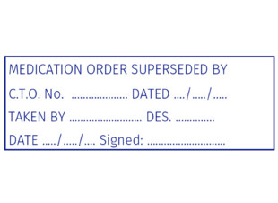 Medication Order Superceded Stamp