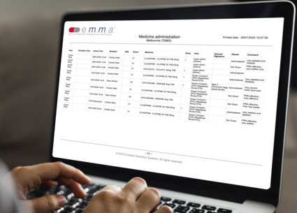 Compact 's emma allows remote access of reports